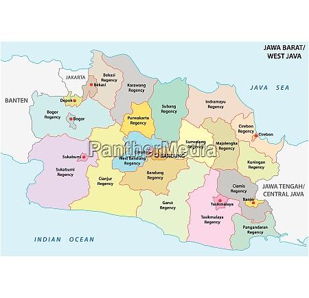 jawa barat west java administrative and