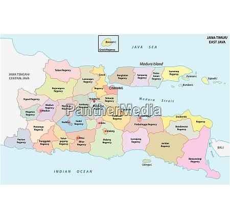 jawa timur east java administrative and