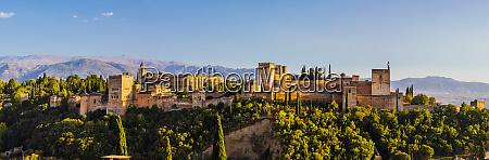 panoramic view of alhambra unesco world