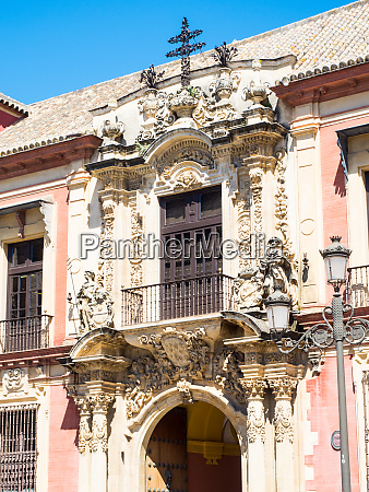 archbishops palace seville sevilla andalucia spain