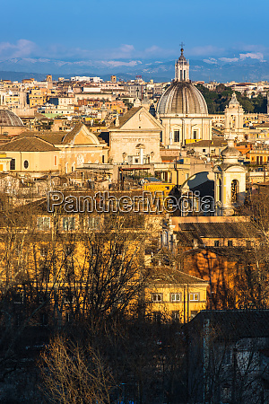 historic rome city skyline with domes