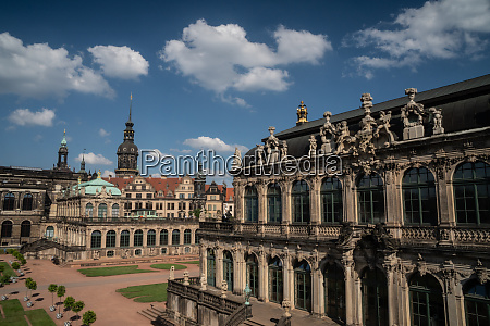 internal courtyard of zwinger palace completely