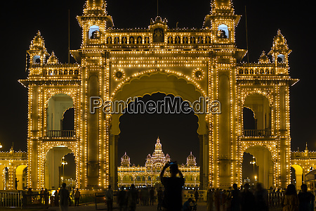 city palace entrance gateway to the