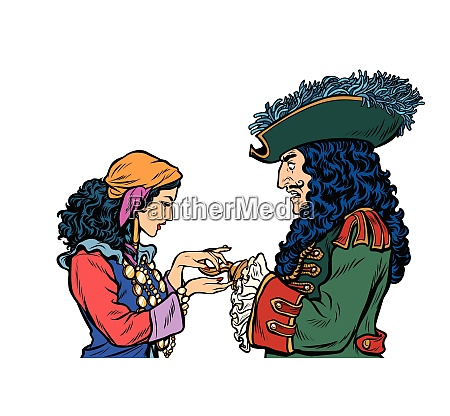 fortune teller and pirate with a