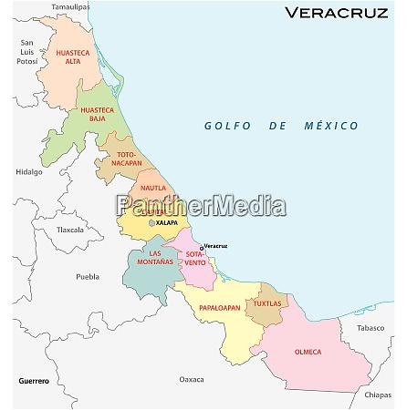 veracruz administrative und politische vektorkarte