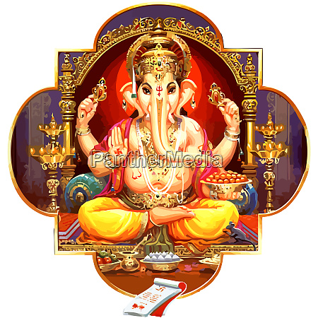 bless god seated ganesha hindu