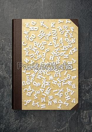 hintergrund ansicht buch oben alphabet lernen