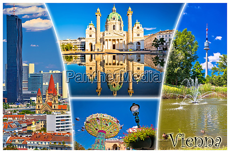 vienna postcard city architecture and nature