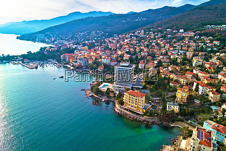 scenic coastline of opatija and lungomare