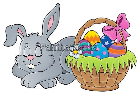 sleeping easter bunny theme image 1
