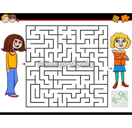 maze game with girl and her