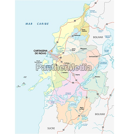 administrative political and roads vector map