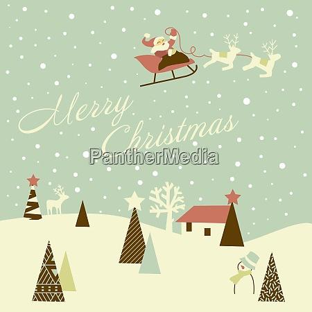 retro weihnachtskarte