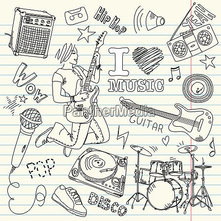 coole musik doodles