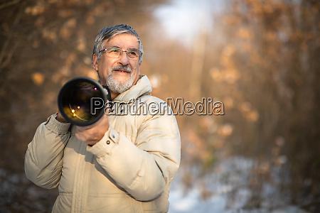 senior man devoting time to his