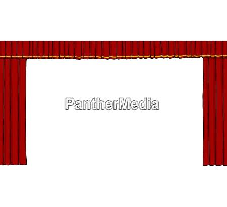 theatervorhang auf weissem hintergrund vektor illustration