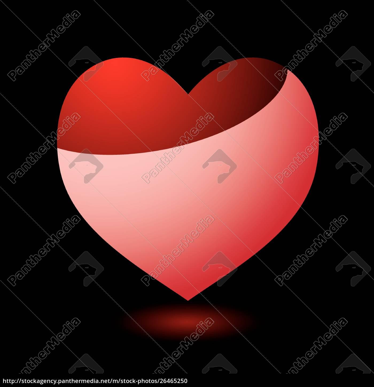 valentinstag, herz, mit, schwarzem, hintergrund, und - 26465250