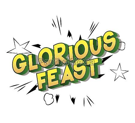 glorious feast comic buch stil satz