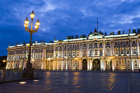 evening view of state hermitage museum