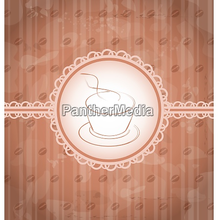 illustration vintage background with coffee label