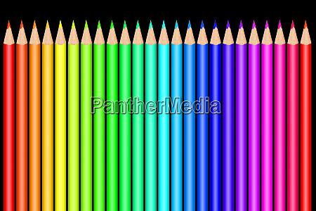 bunte farbstifte vor weissem hintergrund