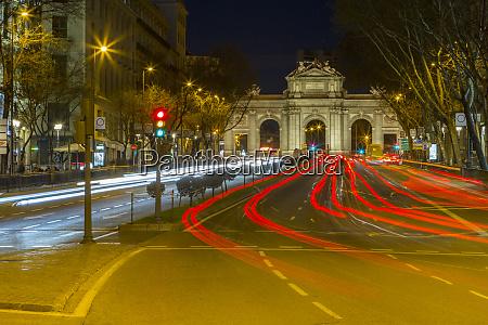 view of triomphal arch puerta de