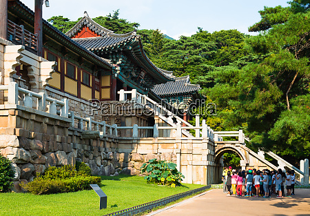 tourist group at bulguksa temple gyeongju