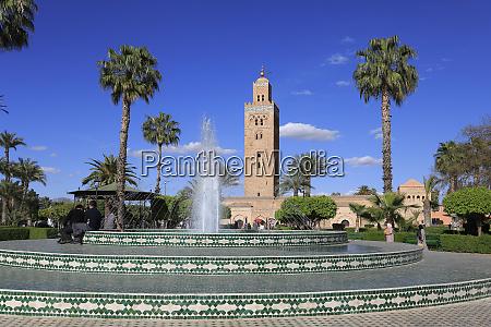 minaret of the koutoubia mosque 12th