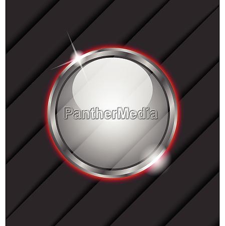 illustration glass ball as vector speech