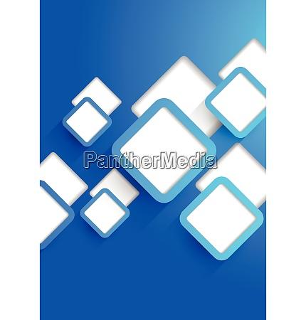 hintergrund mit blau ausgeschnittenen quadraten