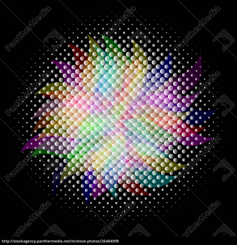 bunter, halbton, vektor, eps, 10, mit, transparenz - 26484098