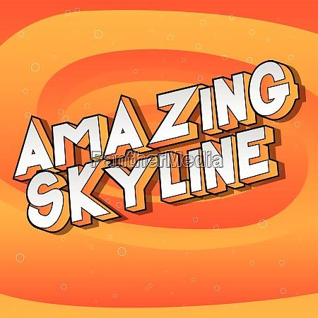 amazing skyline comic book style