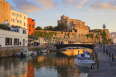 historic old harbour ciutadella menorca balearic
