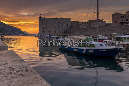 the old port of dubrovnik at