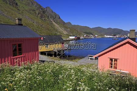 fishing huts rorbuer ballstad fishing village