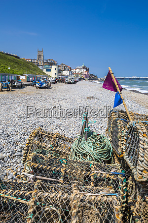 view of fishing baskets on the