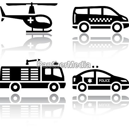 satz von transportsymbolen transportdienste