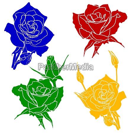 tattoo rose blume