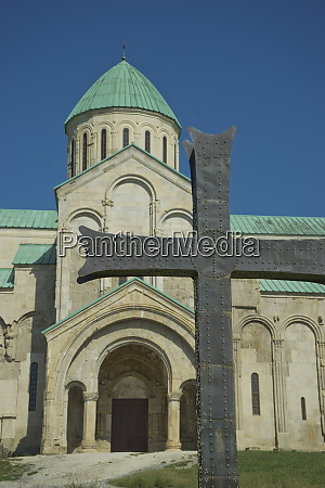exterior of bagrati christian orthodox cathedral