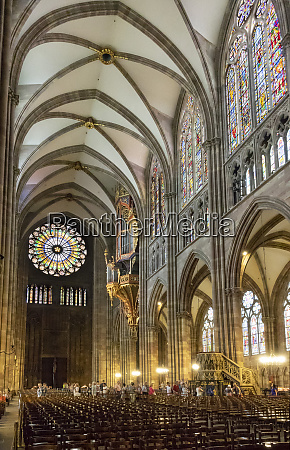 nave looking west strasbourg cathedral unesco