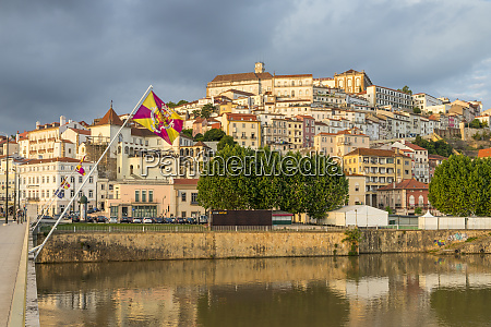 view from mondego river to the