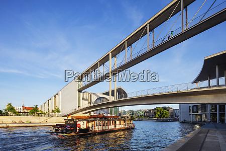 bridge over the spree river connecting