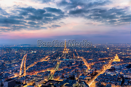 paris looking out from the montparnasse