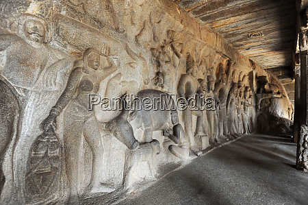 inside vahara cave showing 7th century