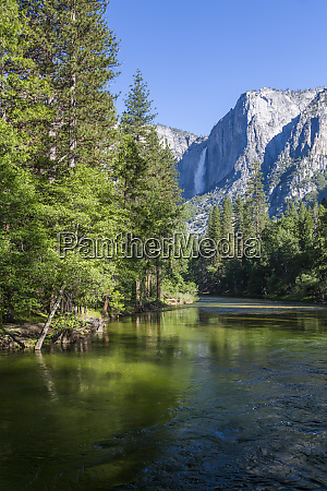 view of merced river and upper