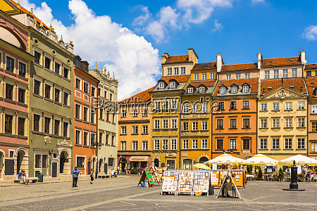 altstadtmarktplatz unesco weltkulturerbe altstadt warschau polen
