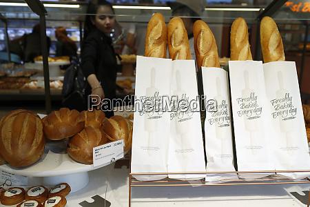 frisches franzoesisches brot baguette zum verkauf