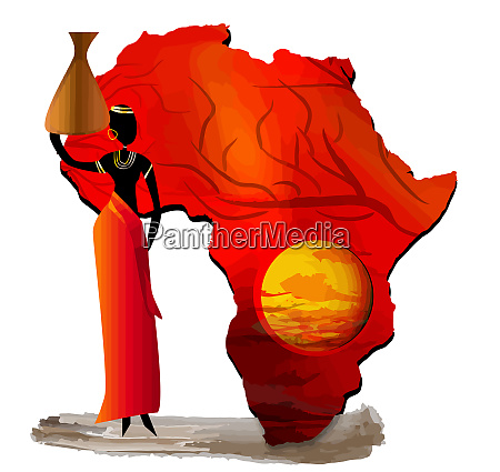 africa map tribe culture traditional ethnic