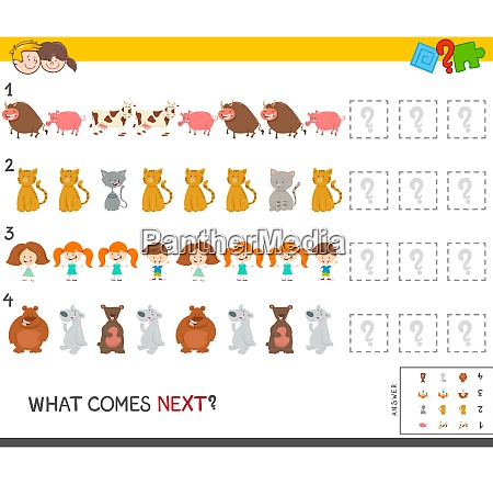musterspiel mit kinder und tierfiguren