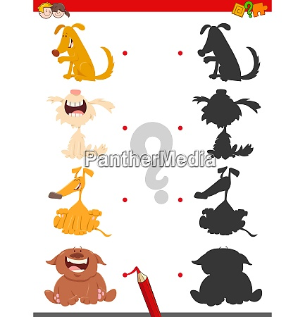 shadow game with cartoon dog characters